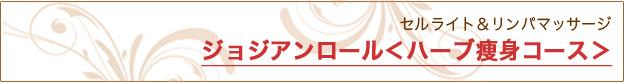 ジョジアンロール<ハーブ痩身コース> 痩身(ボディ)|米沢市エステティックサロン ビークラッセ(b-classe)