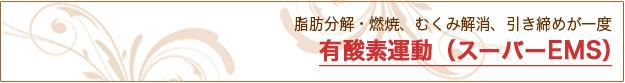 有酸素運動(スーパーEMS) 痩身(ボディ)|米沢市エステティックサロン ビークラッセ(b-classe)
