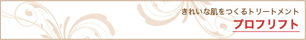 プロフリフト フェイシャル(美顔)|米沢市エステティックサロン ビークラッセ(b-classe)